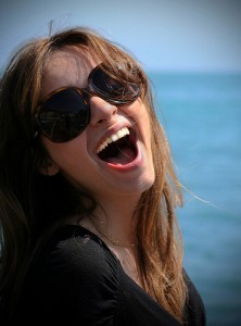 beautiful girl laughing